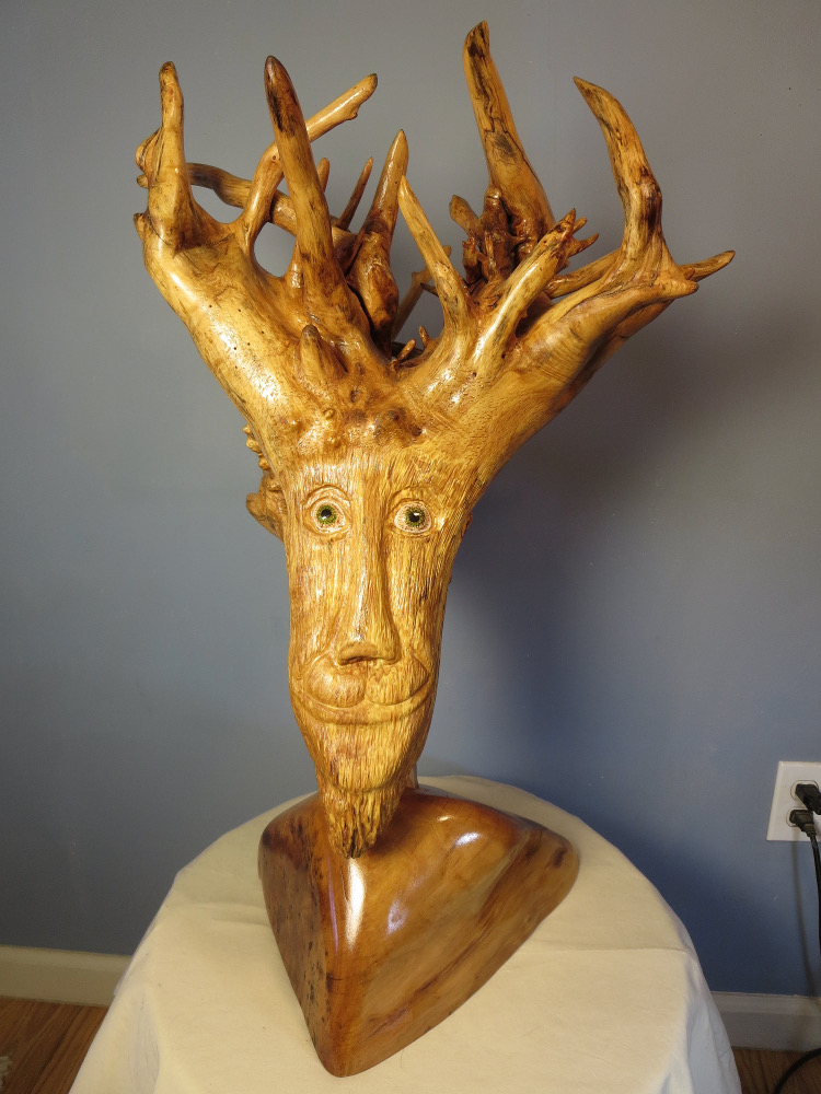 """Forester, 10""""x12"""" base x 25"""" tall"""